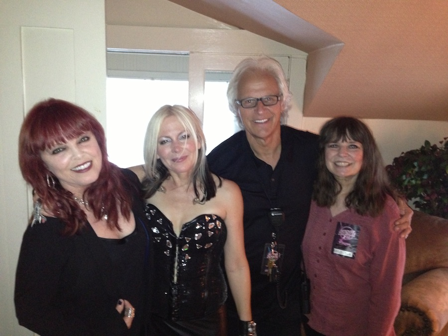 Me backstage with Pat, Merrilee Rush and my first tour mgr, Jimmy Johnson. Great guy